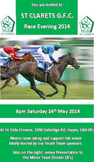St Clarets Race Night